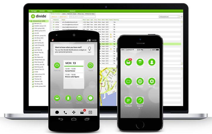 Divide finnes til både Android og iOS, og består også av en administrasjonsløsning.Foto: Divide