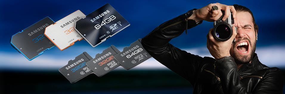 Samsung slipper nye minnekort