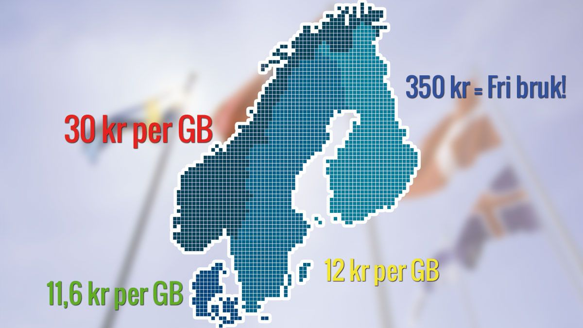 Mindre datapakke, samme operatør - dobbel pris