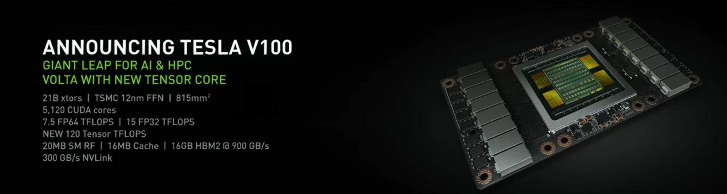 Noen av hovednyhetene i Volta-baserte Tesla V100.