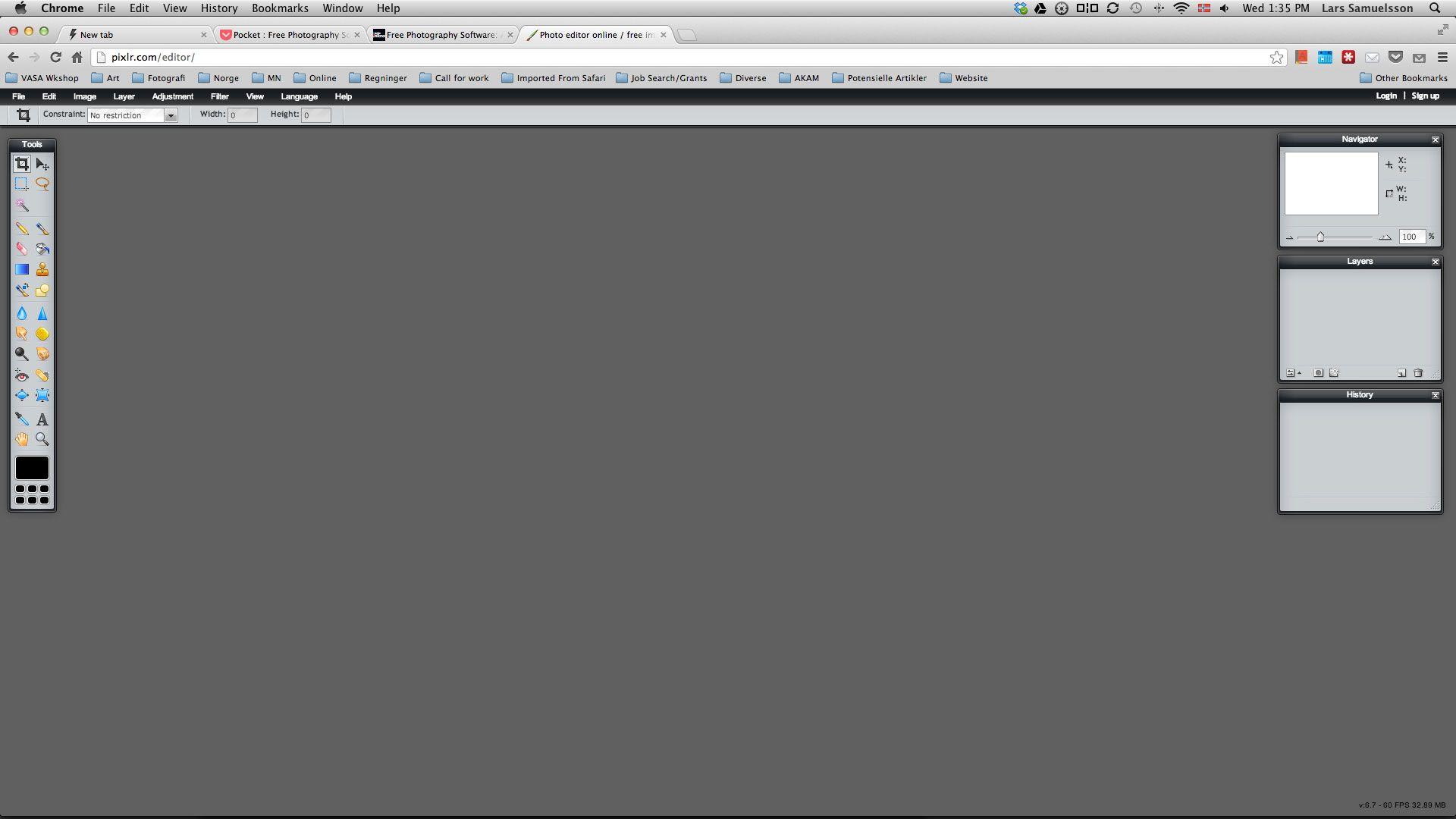 Med Pixlr kan du redigere bildene dine på nett uten å installere programmet. Foto: Pixlr