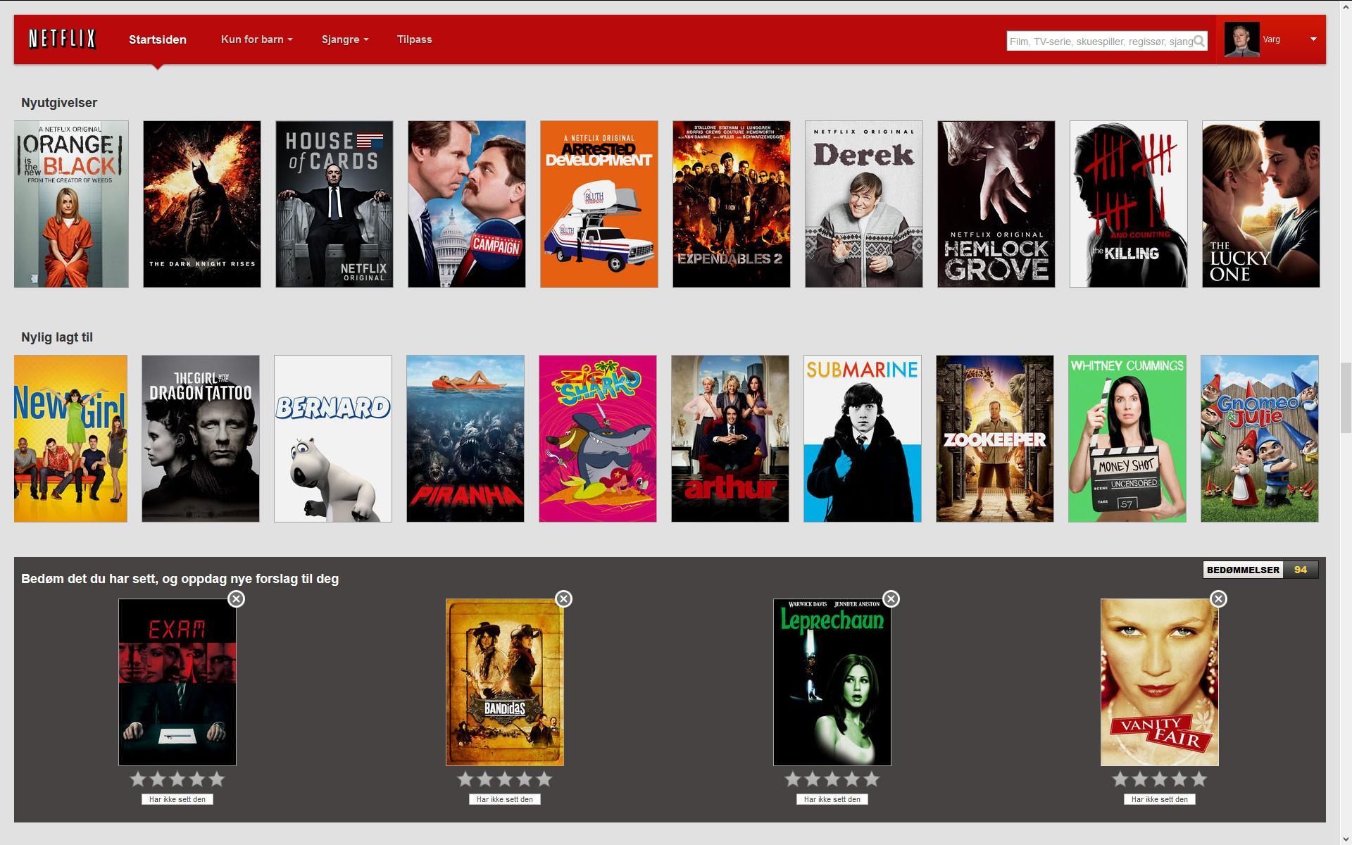 Norske Netflix har et rimelig fyldig bibliotek, men det er ikke helt det samme som hva amerikanerne har å boltre seg på.