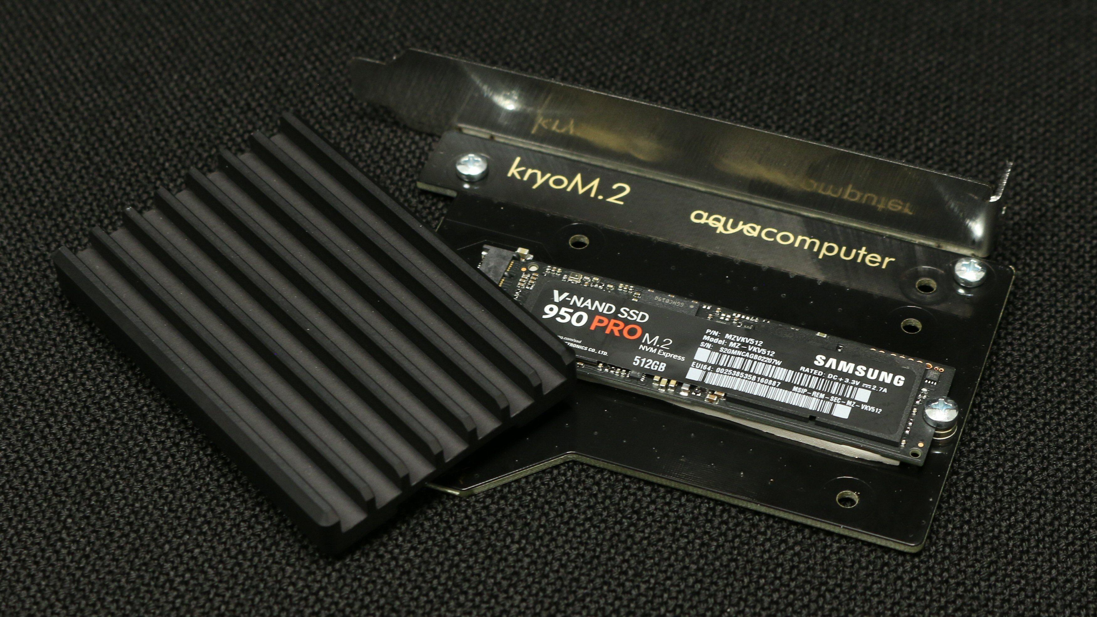 Aqua Computer KryoM.2 PCIe SSD-adapter med kjøleribbe