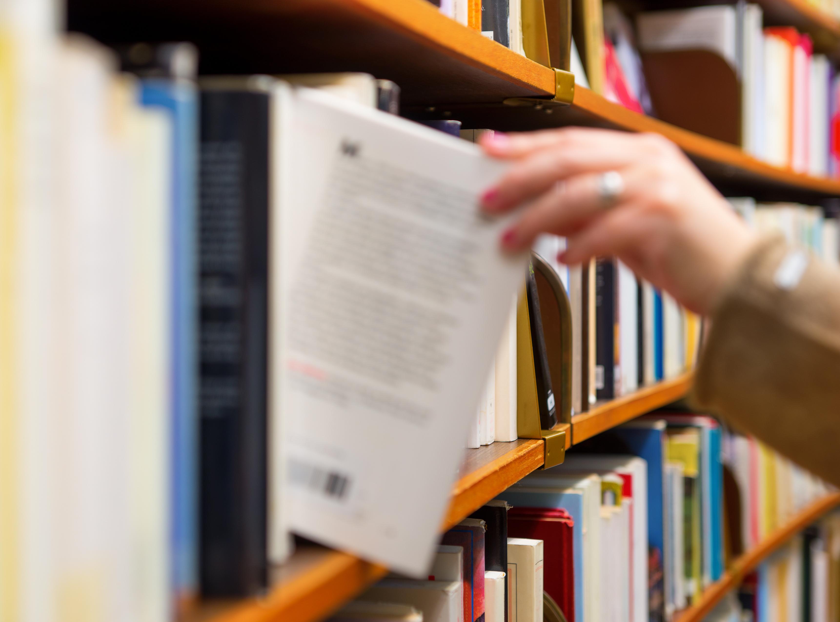 I en bokhylle har ikke en liten høyttaler noe å gjøre. Foto: Shutterstock