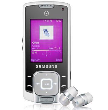 F330 er en musikktelefon i skyvedesign.