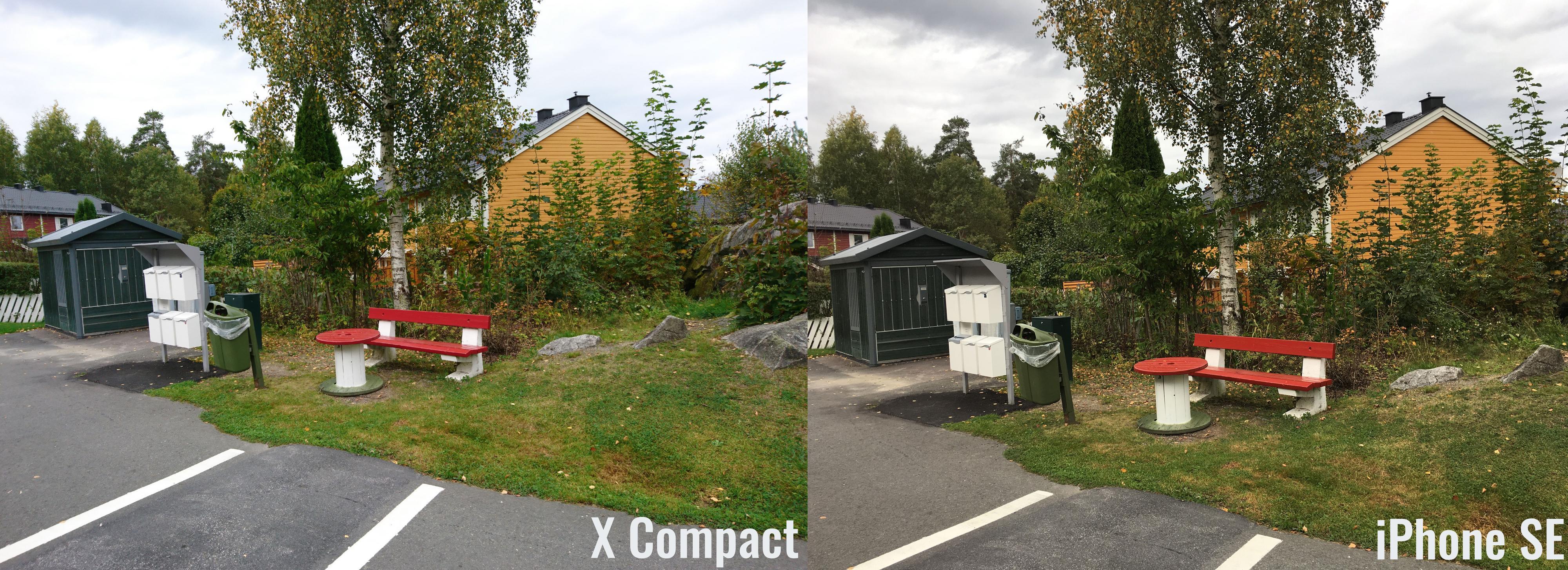 Det er ikke mye som skiller bildene tatt med Xperia X Compact og iPhone SE. Fargene er imidlertid litt mer korrekte for Sonys del.