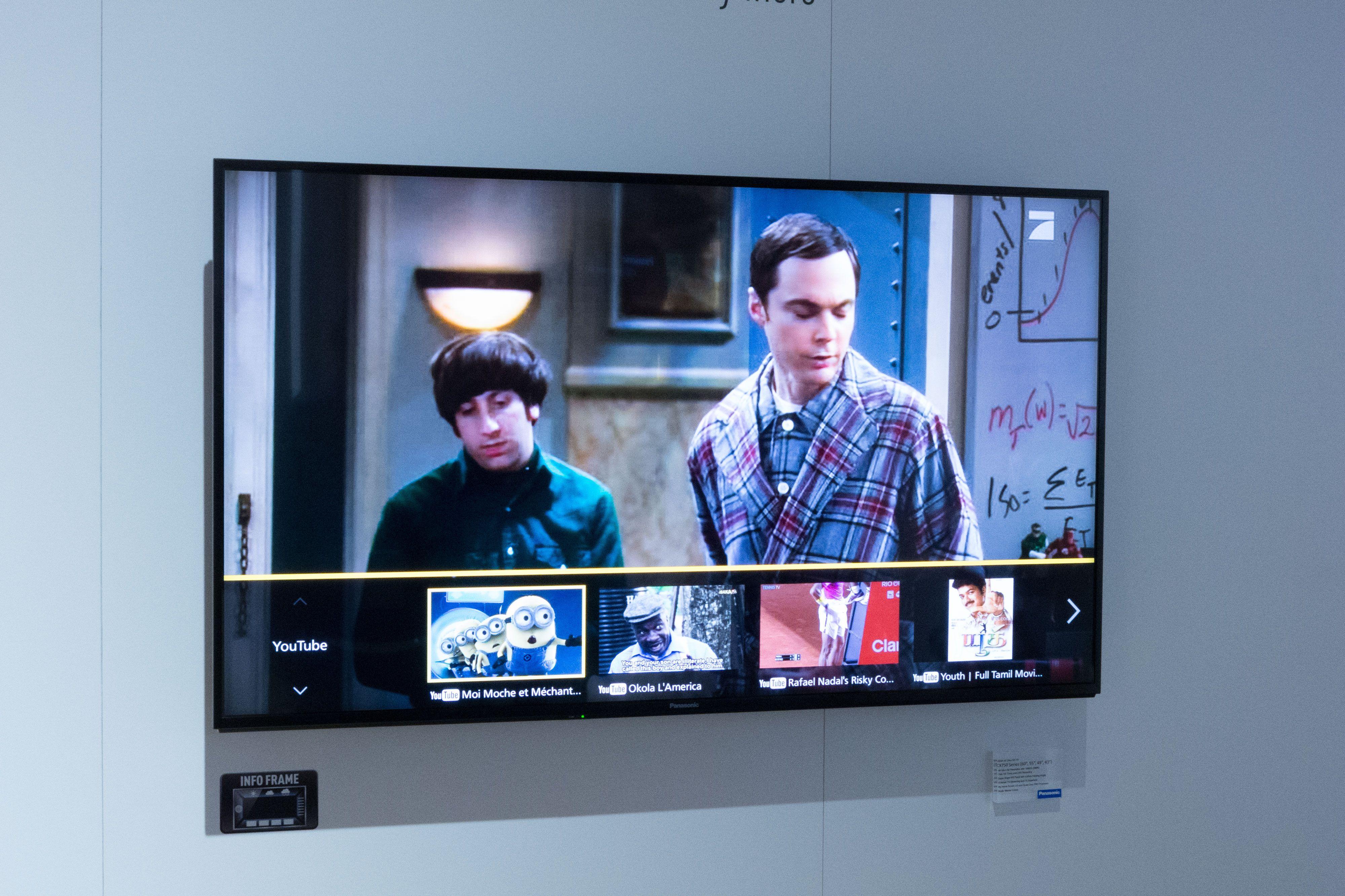 Via en hurtigmeny finner TV-en frem innhold den tror passer deg. Foto: Ole Henrik Johansen / Tek.no