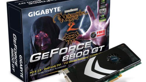 GeForce 8800 GT innfrir