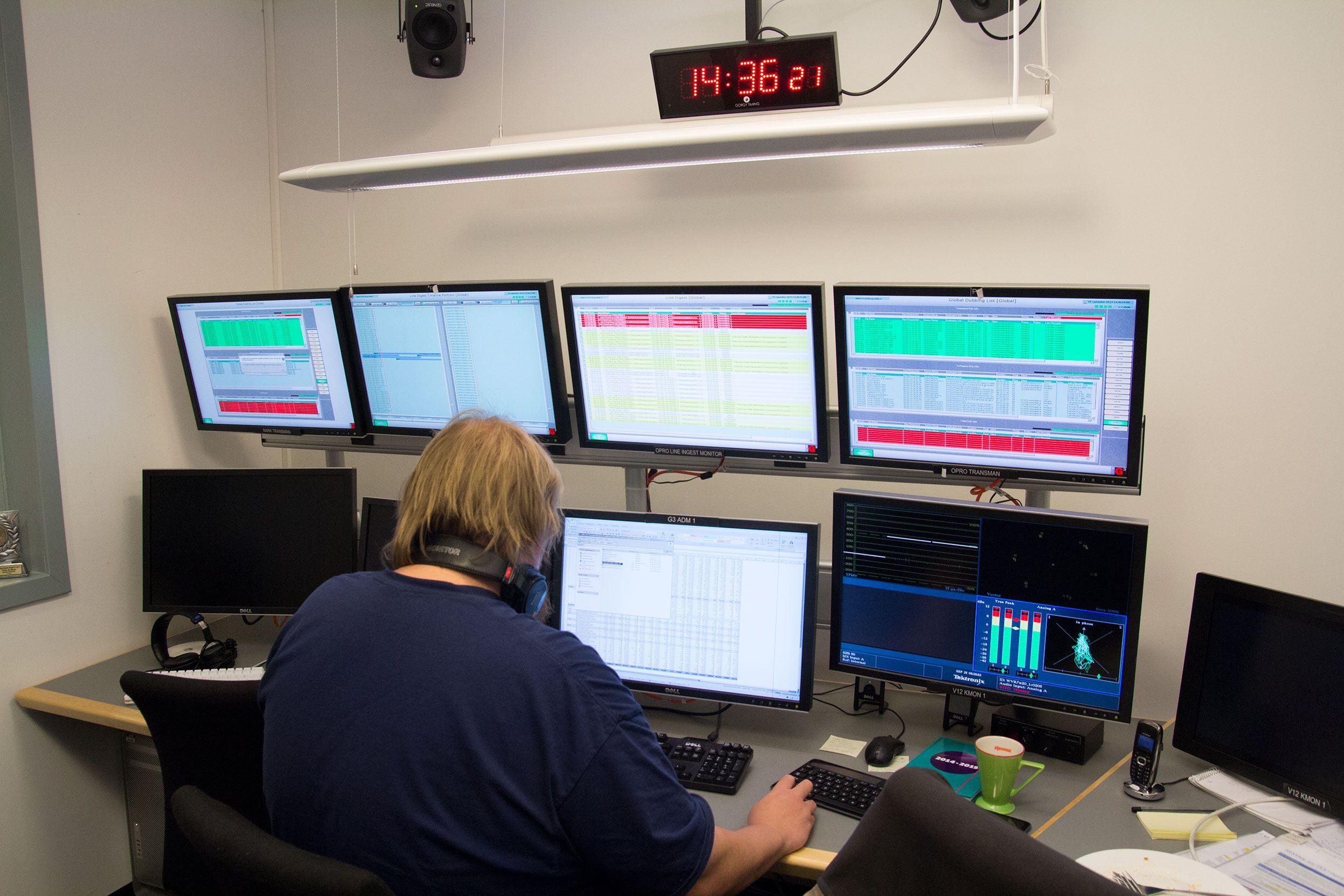 En av Programbankens overvåkningssentraler. Foto: Jørgen Elton Nilsen, Hardware.no