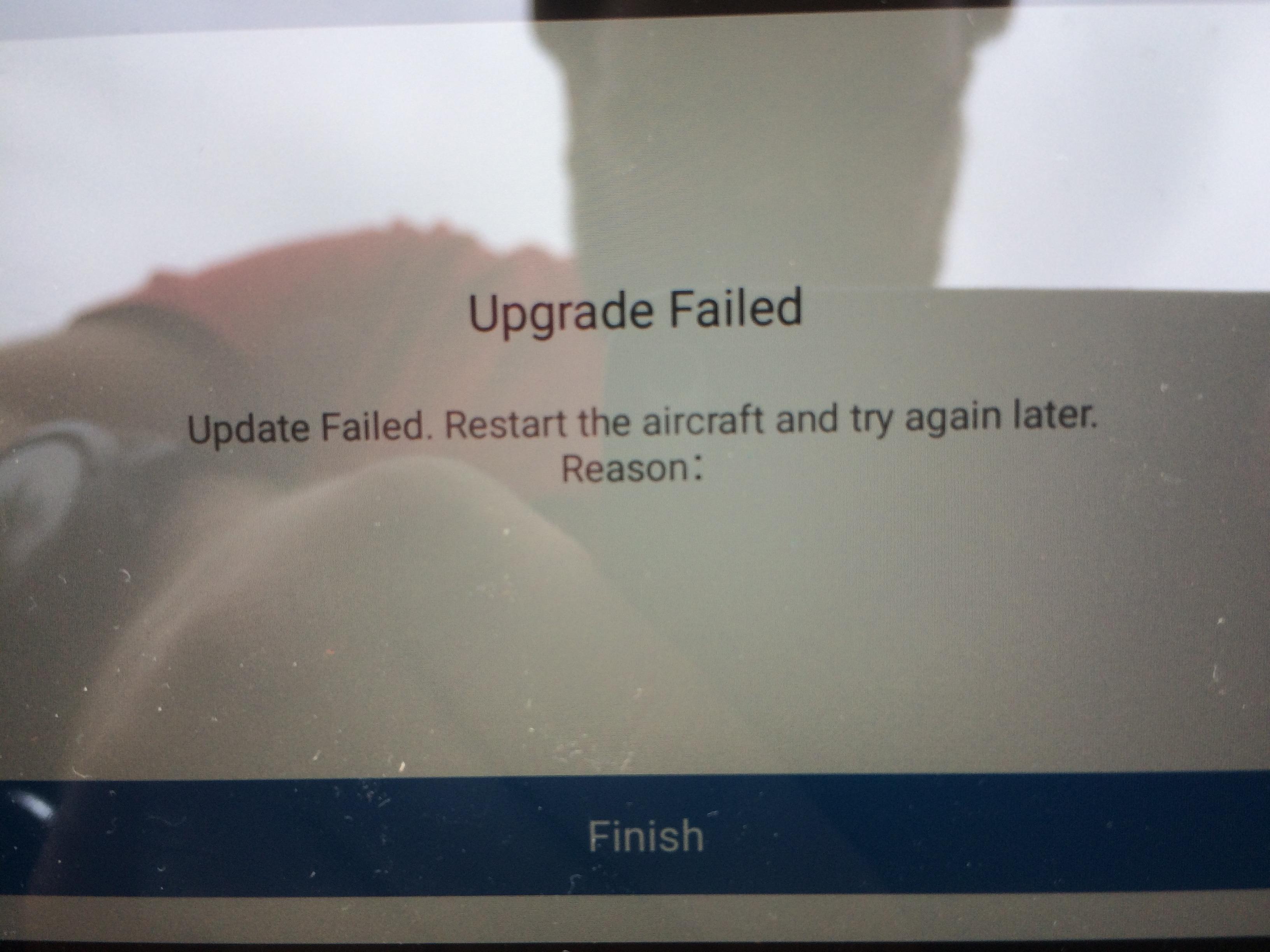 Hvorfor kunne ikke appen oppdatere dronen? Reason, thats why, ser det ut til.
