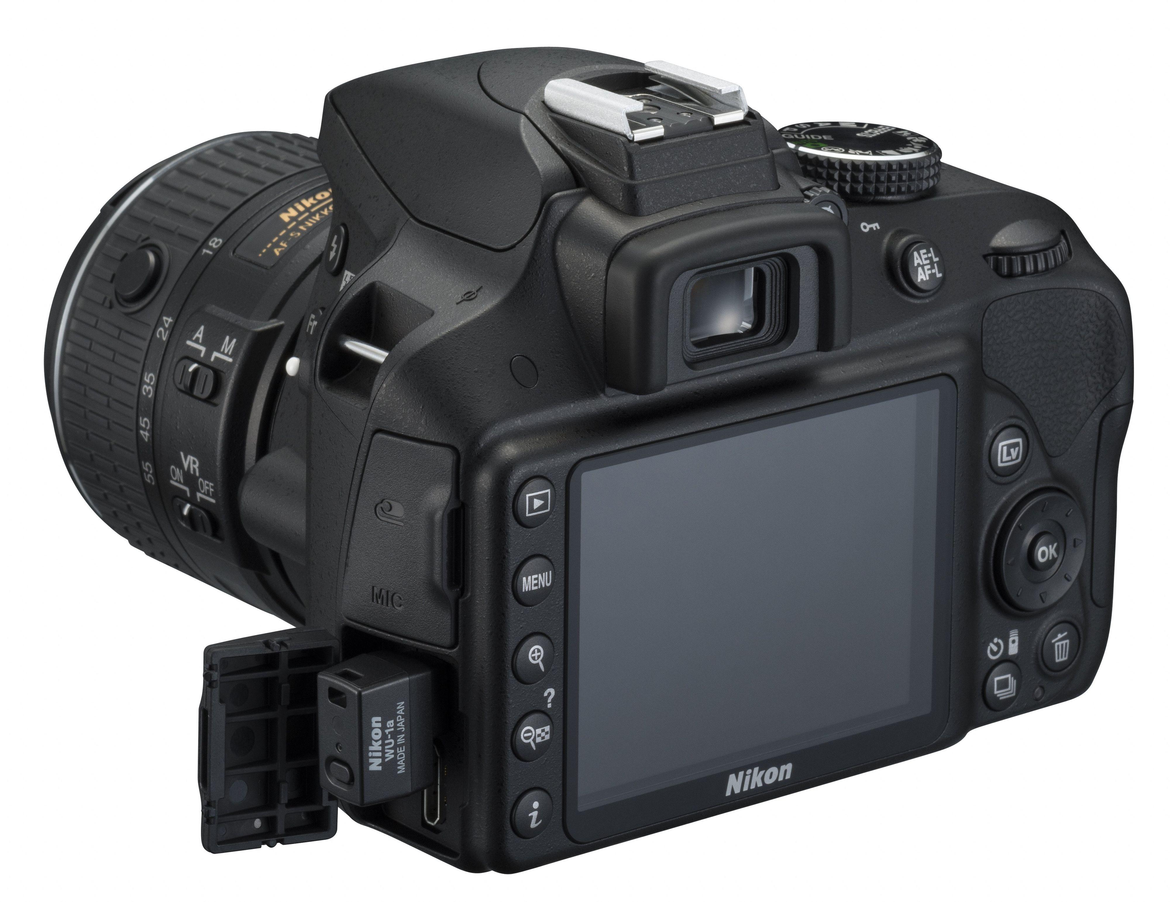 En tre tommer stor skjerm preger baksiden av D3300.Foto: Nikon