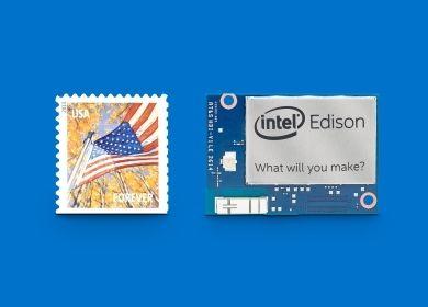 Intel Edison er knapt større enn et frimerke.Foto: Intel