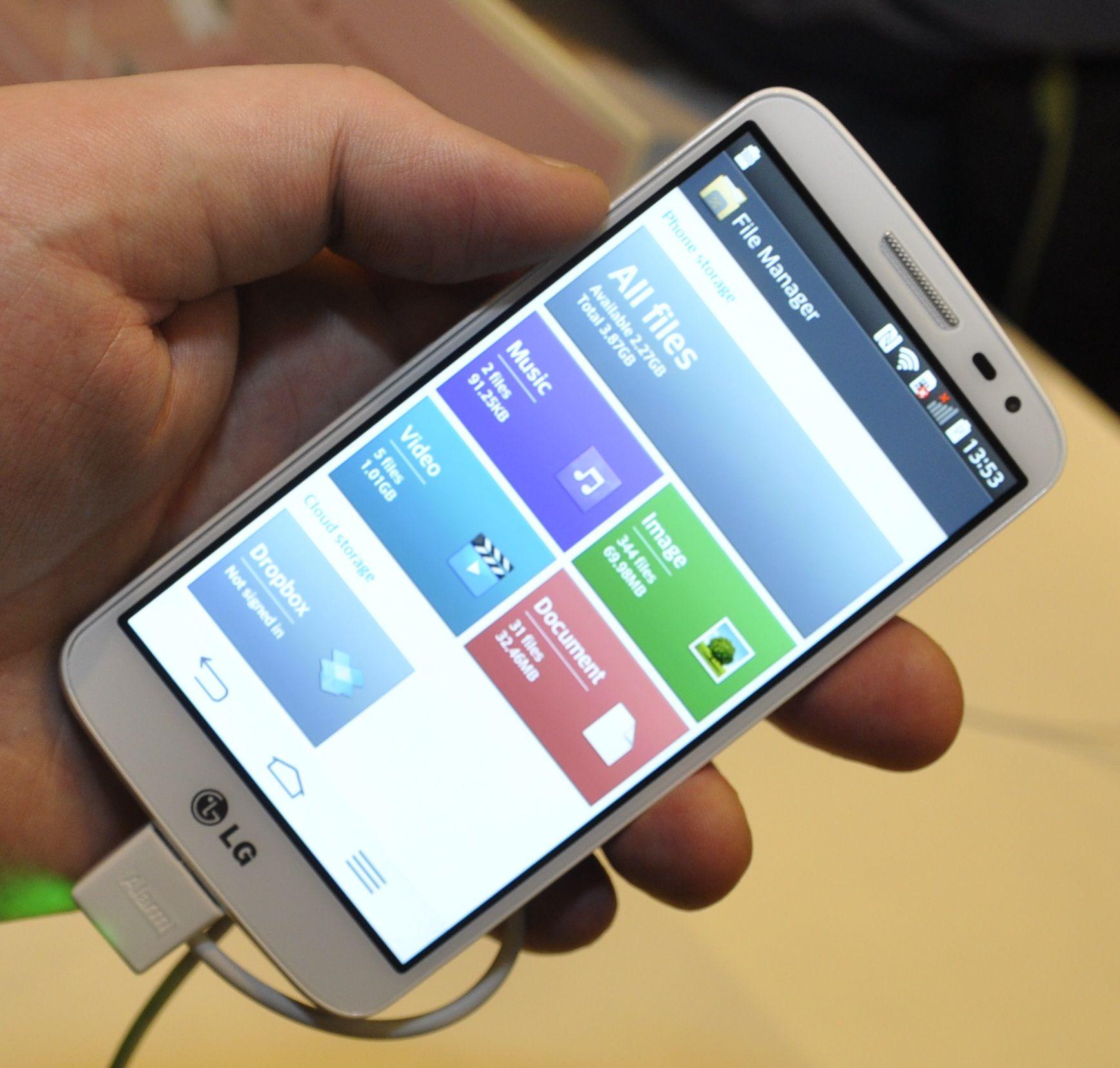 Filutforskeren har blitt standard på LGs telefoner, men her er også det meste annet vi kjenner fra G2.Foto: Finn Jarle Kvalheim, Amobil.no
