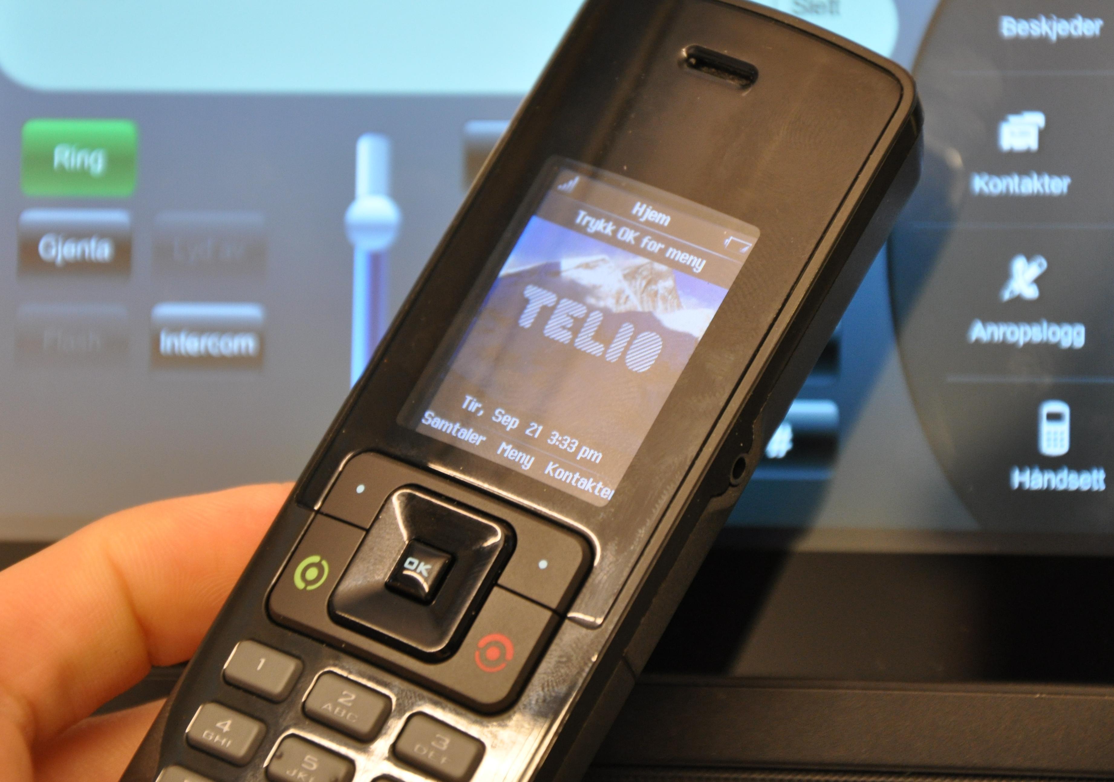 Håndsettet er ikke høydepunktet i Telio Touch.