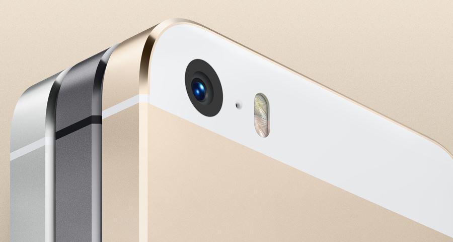 iPhone 5S kommer i tre farger - hvitt, sort og gyllent.