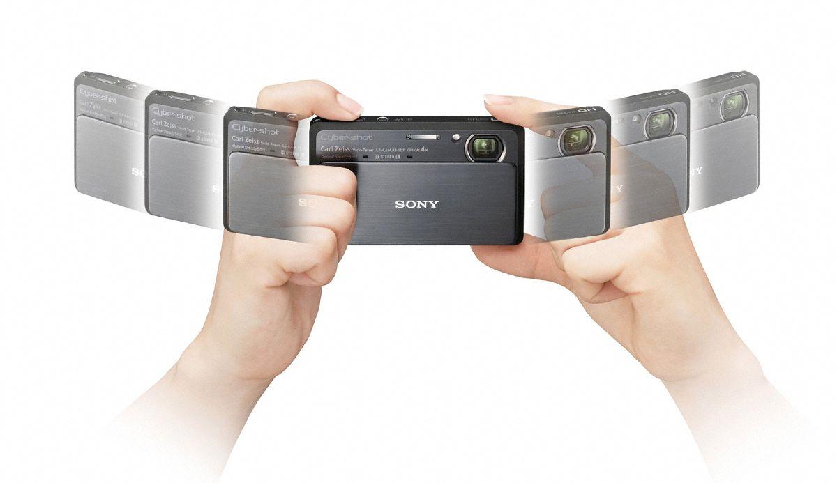 Kameraet flyttes fra høyre til venstre for å lage et panoramabilde.