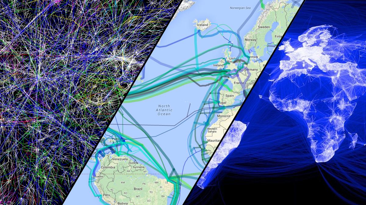 Ti kart som viser deg hvor gigantisk Internett er
