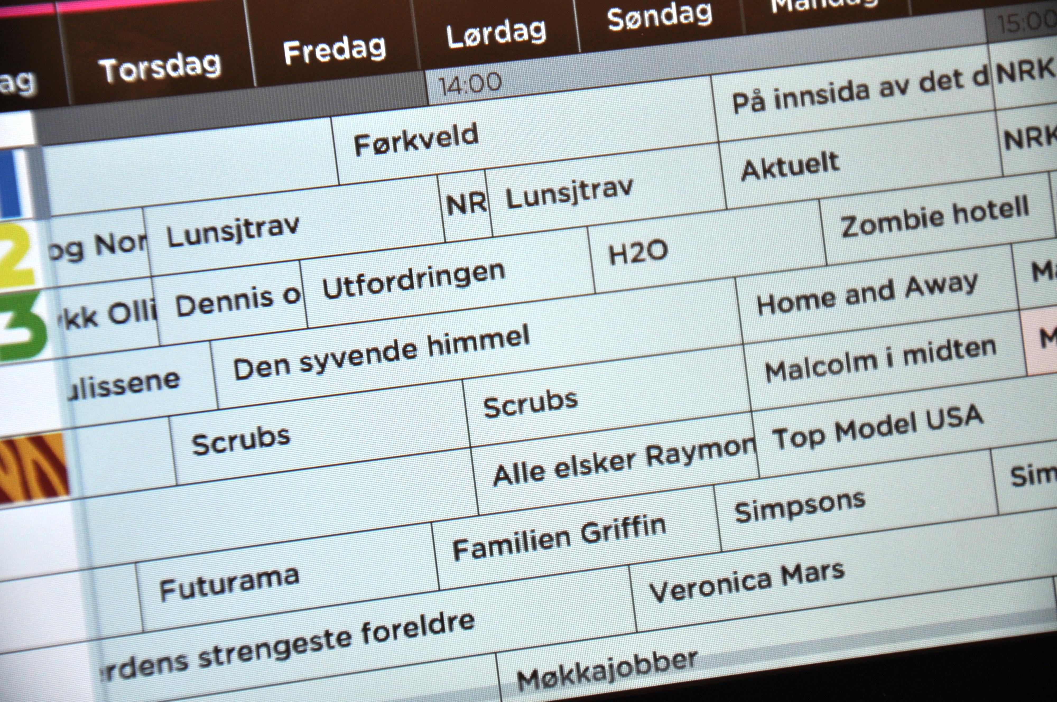 Hva går på TV i dag mon tro?