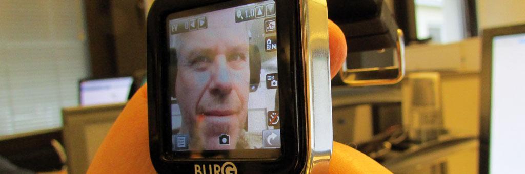 Kamera på fronten. Det betyr at det er best egnet for selfies.Foto: Espen Irwing Swang, Amobil.no