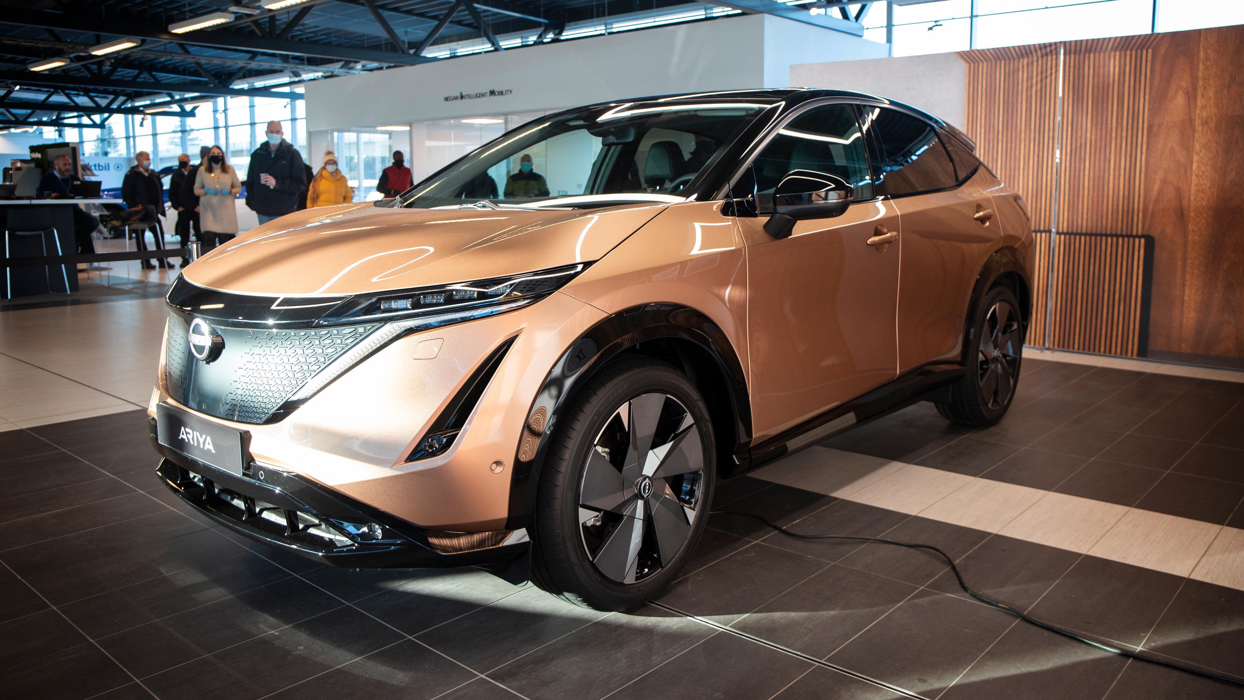Nissan Ariya er på sitt første norgesbesøk. Fortsatt er det likevel et knapt år til vi får se dem på norske veier.