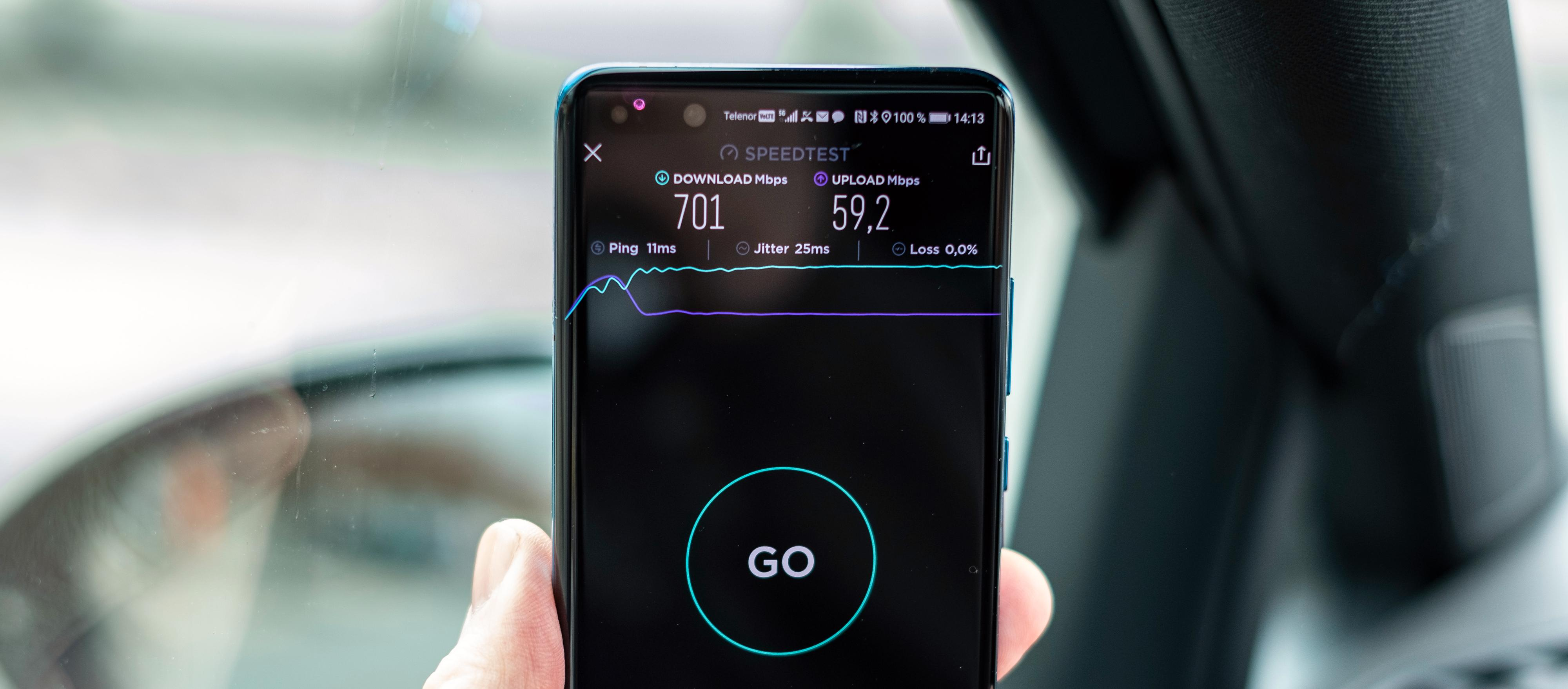 5G er hjertelig til stede, og virker som bare det. I skrivende stund har fortsatt ikke Galaxy S20 Ultra fått oppdateringen som faktisk skrur på 5G.