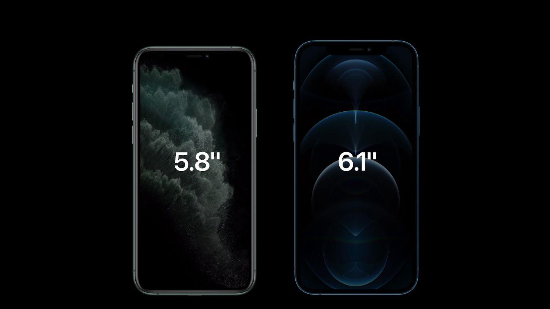 Skjermen har vokst fra forrige generasjon. Pro-modellen måler nå 6,1 tommer. For Pro Max er det snakk om en økning fra 6,5 til 6,7 tommer - den største skjermen på en iPhone noensinne.