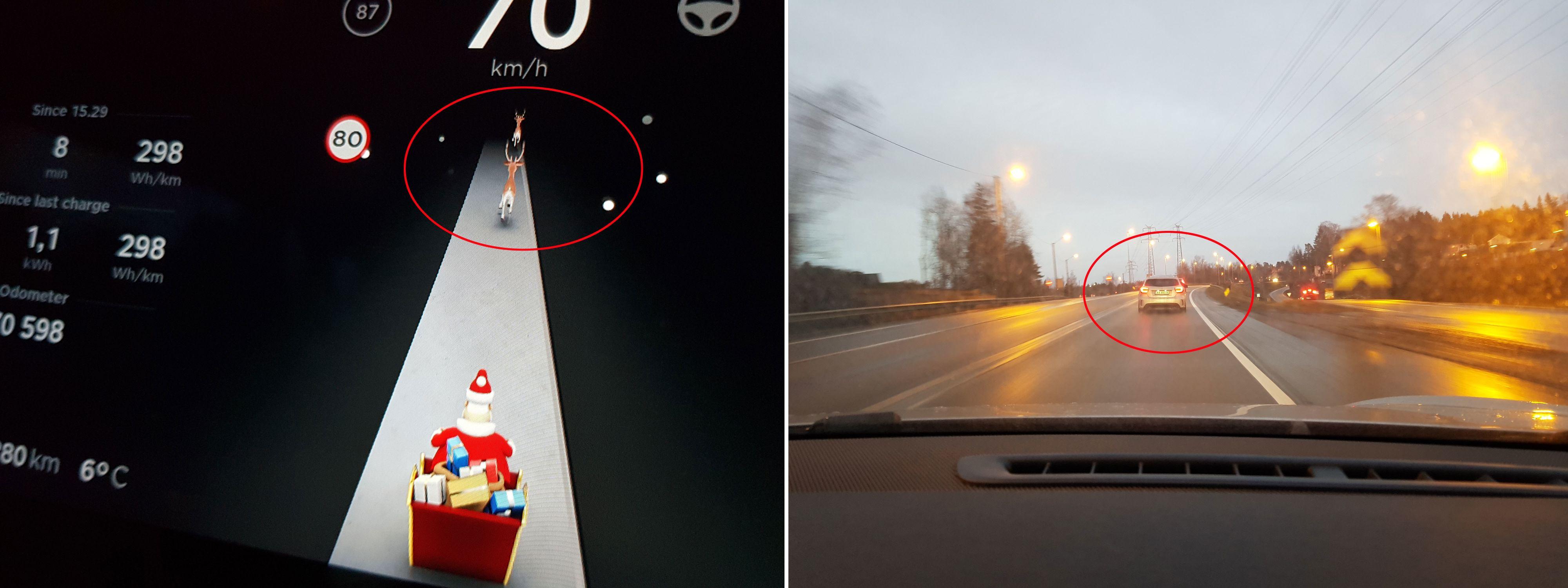 Bilene foran vises som reinsdyr i instrumentene. Bilde: Torstein Norum Bugge, Tek.no
