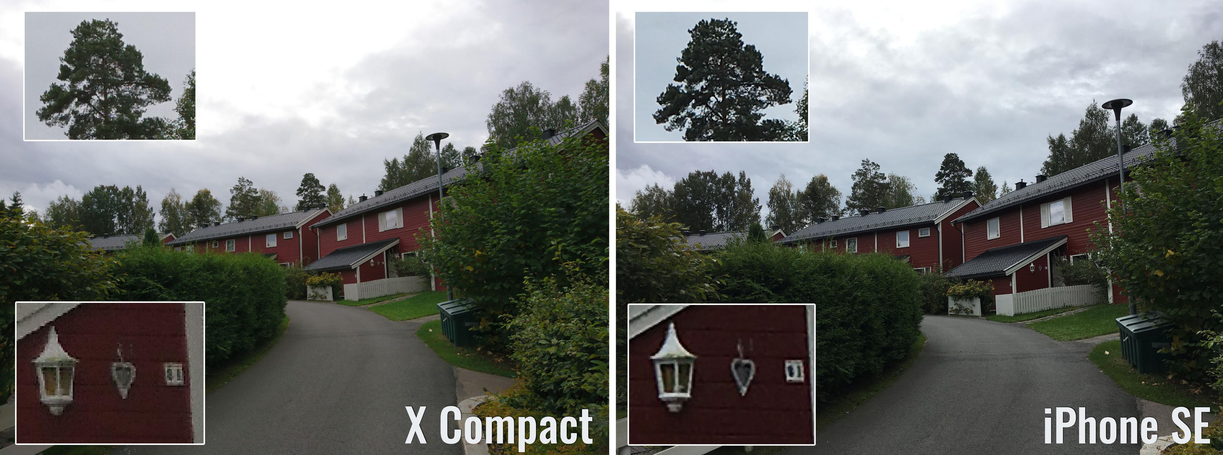 Også her er det lite som skiller de to, men ser man på trærne er det litt flere detaljer å hente hos Sony.