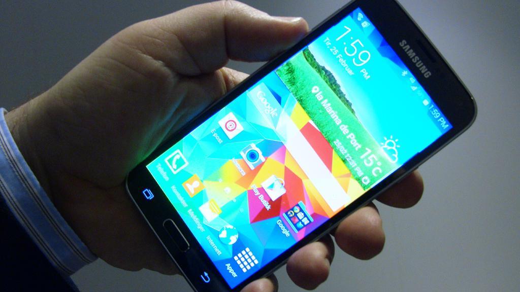 Komponenter til Samsungs nye flaggskip, Galaxy S5, gikk i helgen opp i røyk.Foto: Espen Irwing Swang, Amobil.no