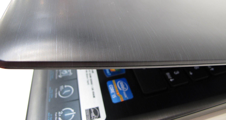 MSI CX640 har en overflate i plast med børstet metall-look.