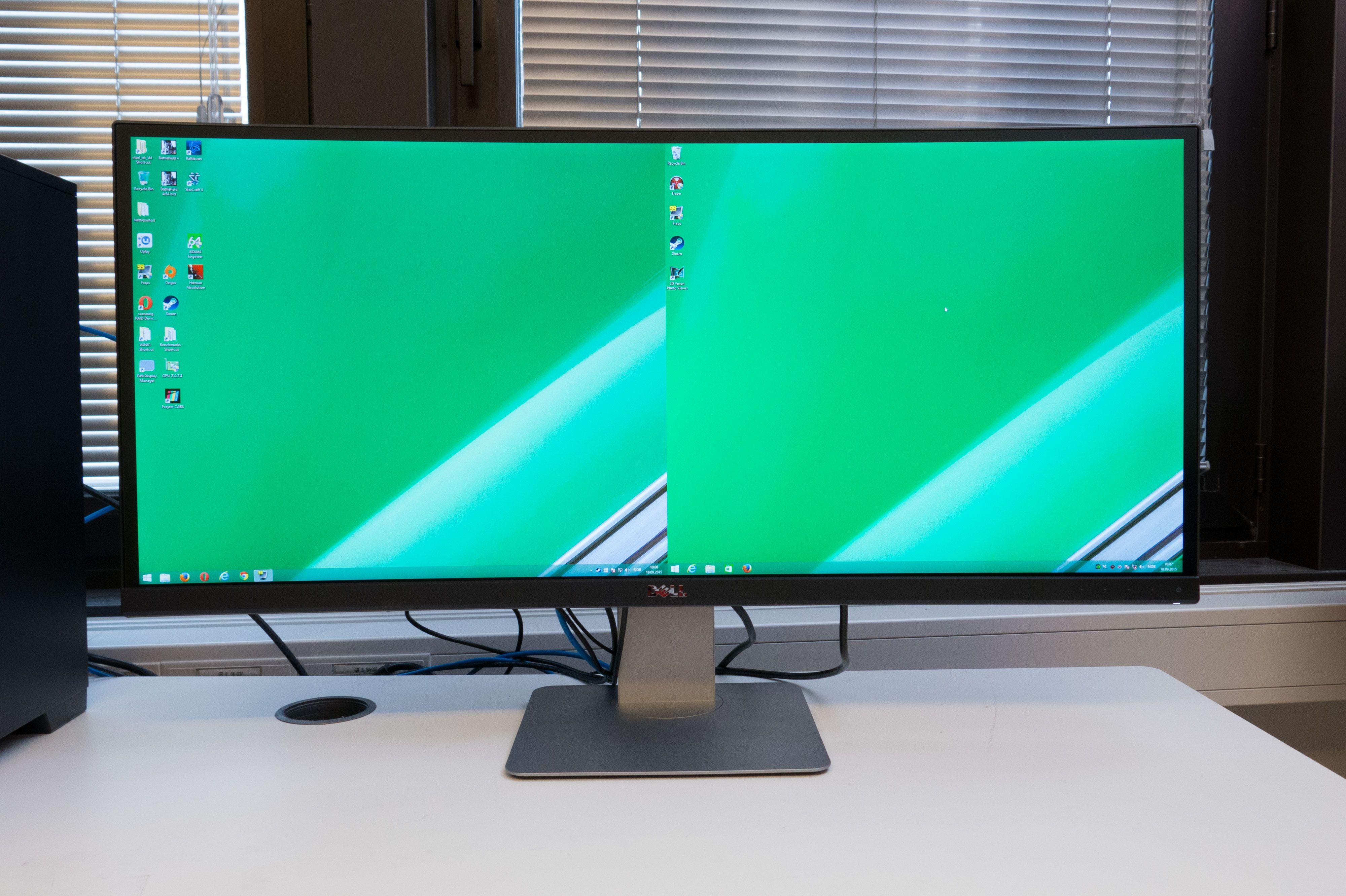 U3415W lar deg bruke to maskiner på  samme mus og tastatur