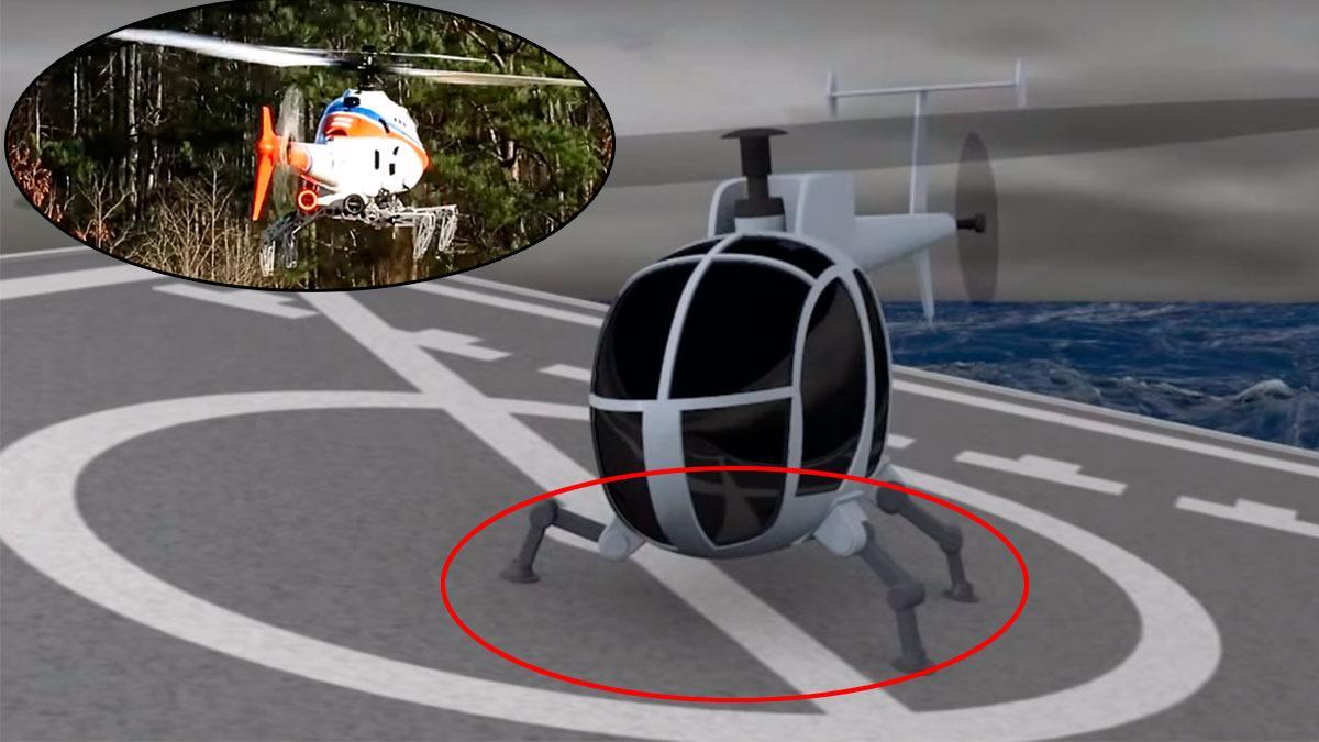 Dette hellikopteret kan lande hvor som helst