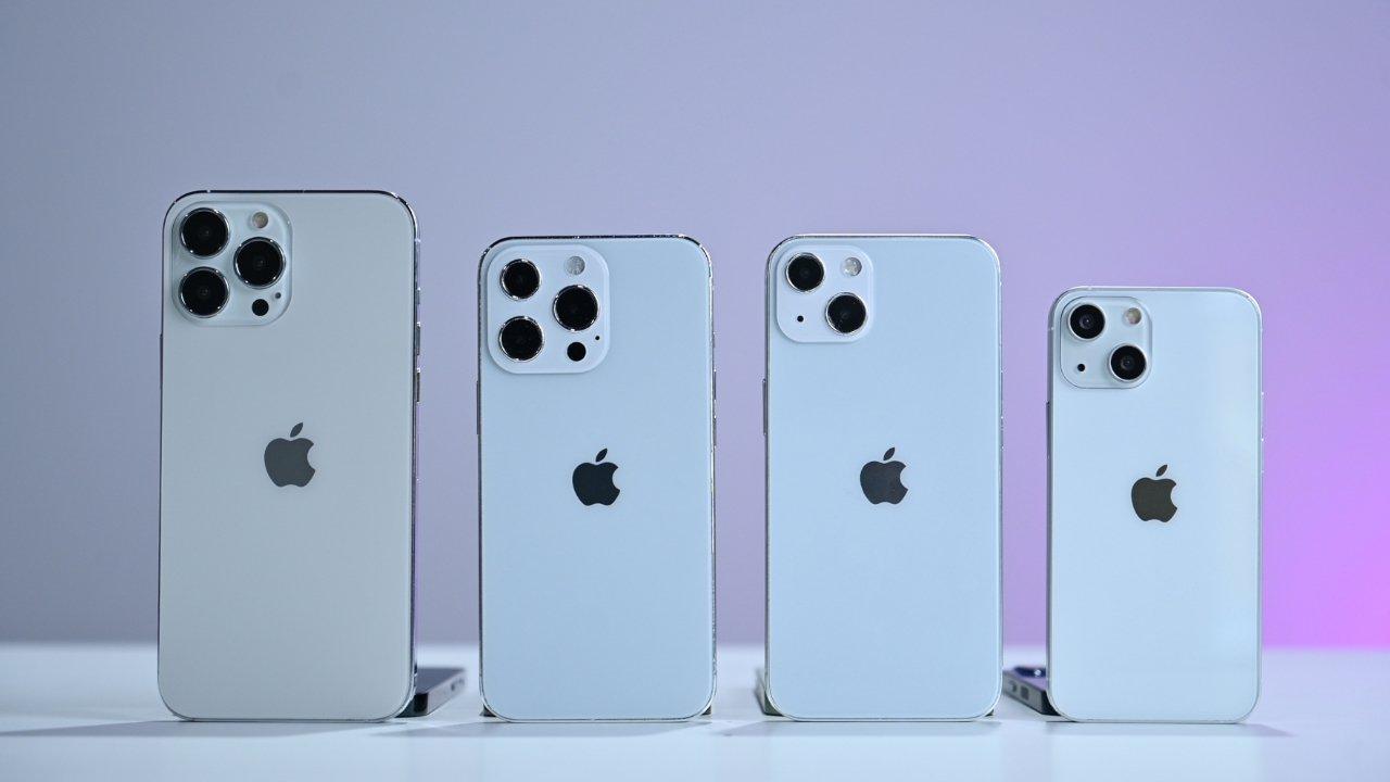 Slik kan iPhone 13 se ut, med litt annerledes kameraplassering. Dette er imidlertid bare et 3D-bilde generert av en designer.