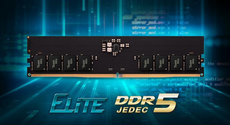 Teamgroup Elite U-DIMM DDR5 skal ha blitt sluppet på markedet i sommer og var – ifølge selskapet selv – verdens første DDR5-moduler for vanlige stasjonære PC-er. Ikke at det finnes PC-er å bruke dem på ennå, men likevel.