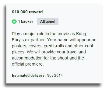 For 10 000 dollar fikk noen en rolle i filmen. Foto: Skjermdump
