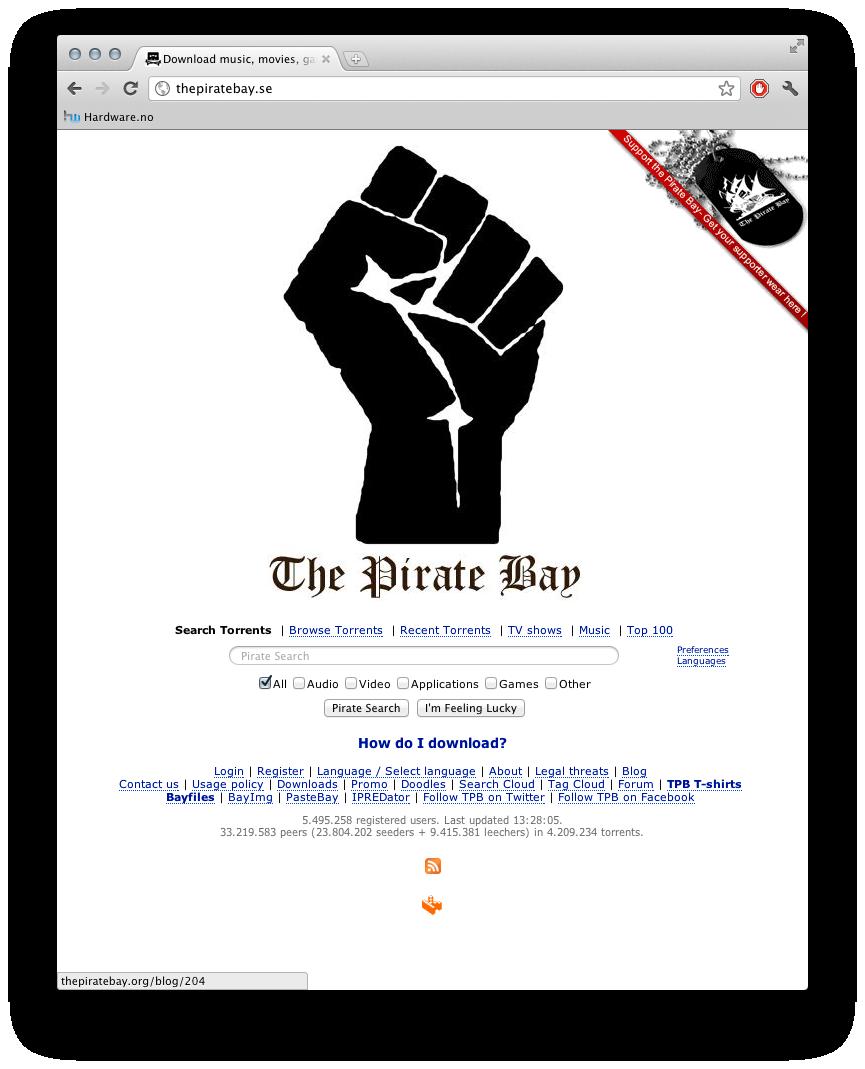Pirate Bay fortsetter å være oppe, selv etter dommen er avgjort.