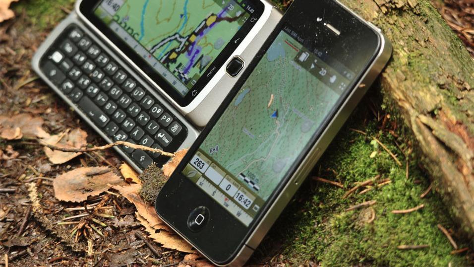 En mobiltelefon er kanskje ikke like solid som en håndholdt GPS, men fungerer likevel bra.Foto: Einar Eriksen