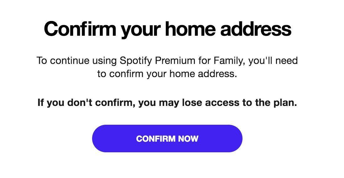 Dette er meldingen som ble sendt ut til brukere om å verifisere hjemadressen.