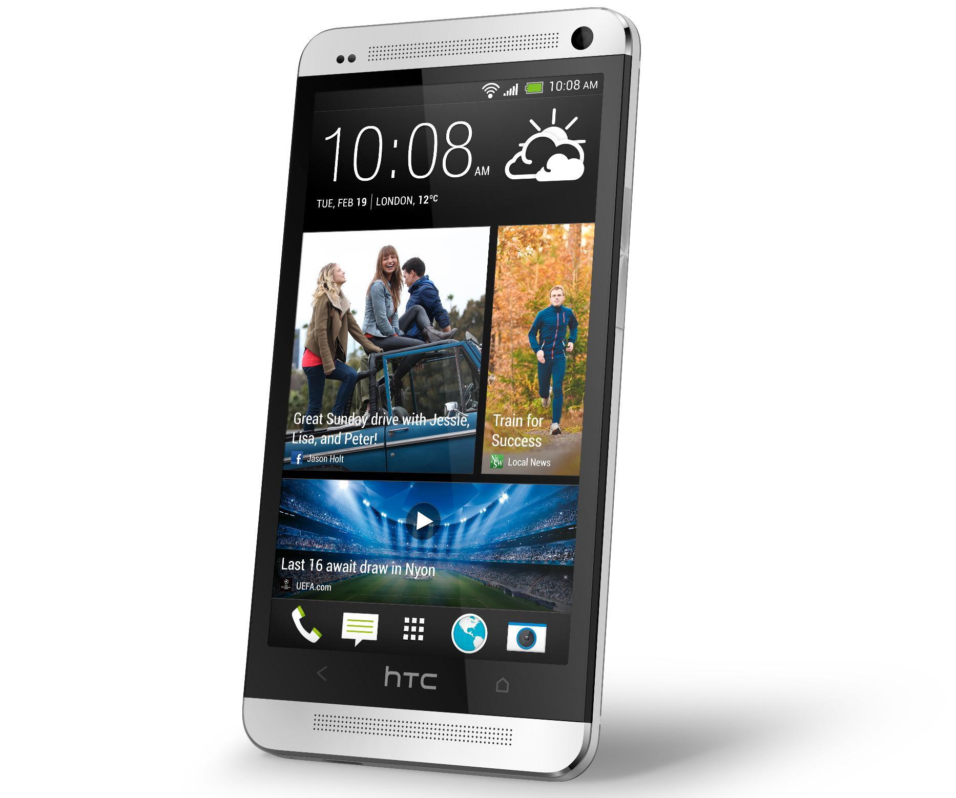 HTC One er bygget i aluminium og glass.Foto: HTC