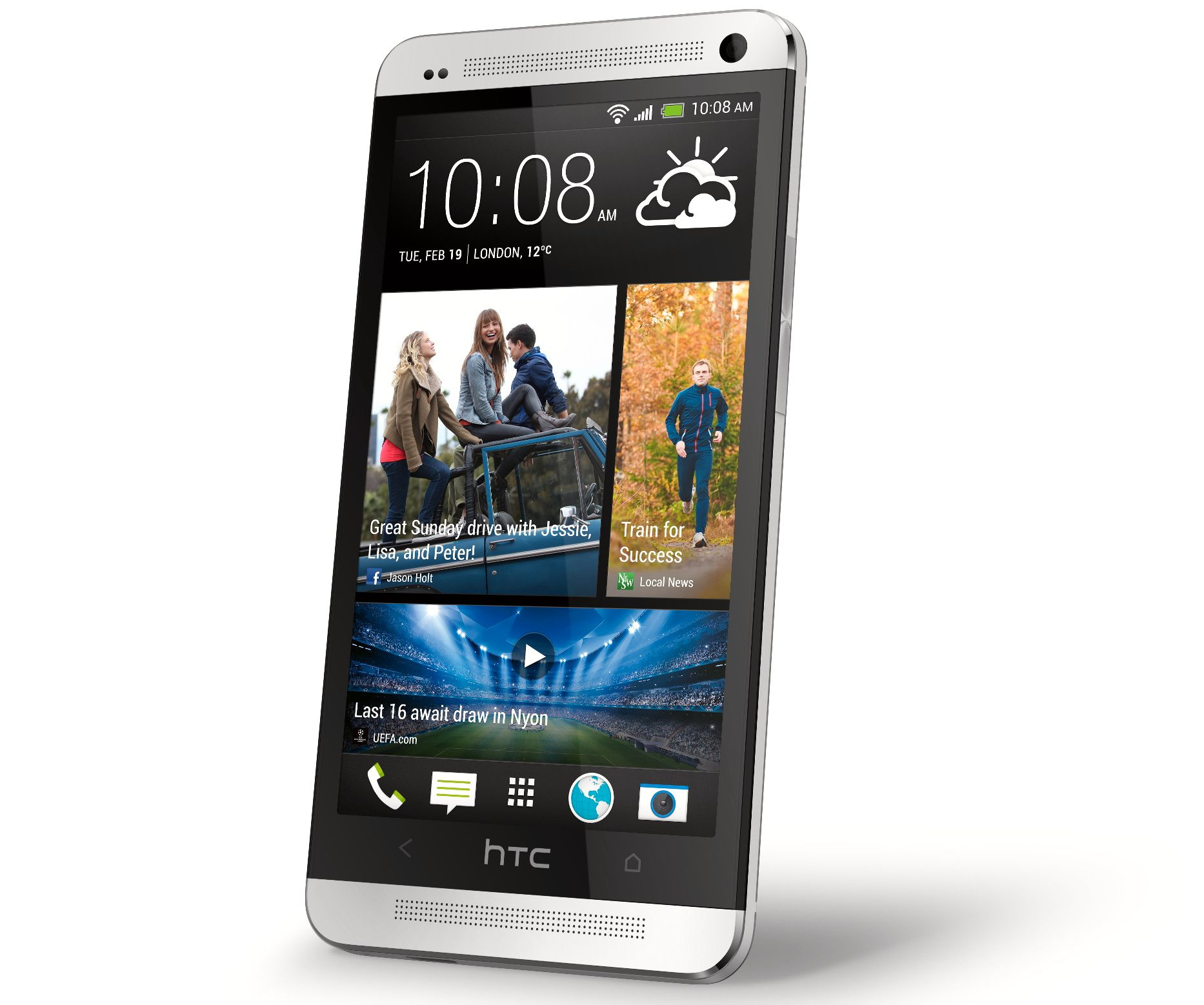 HTC One er bygget i aluminium og glass.Foto: HTC