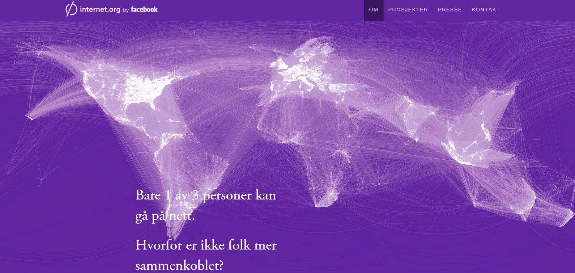 Internet.org ønsker å bringe nettet, inkludert Facebook, til alle. Foto: Internet.org