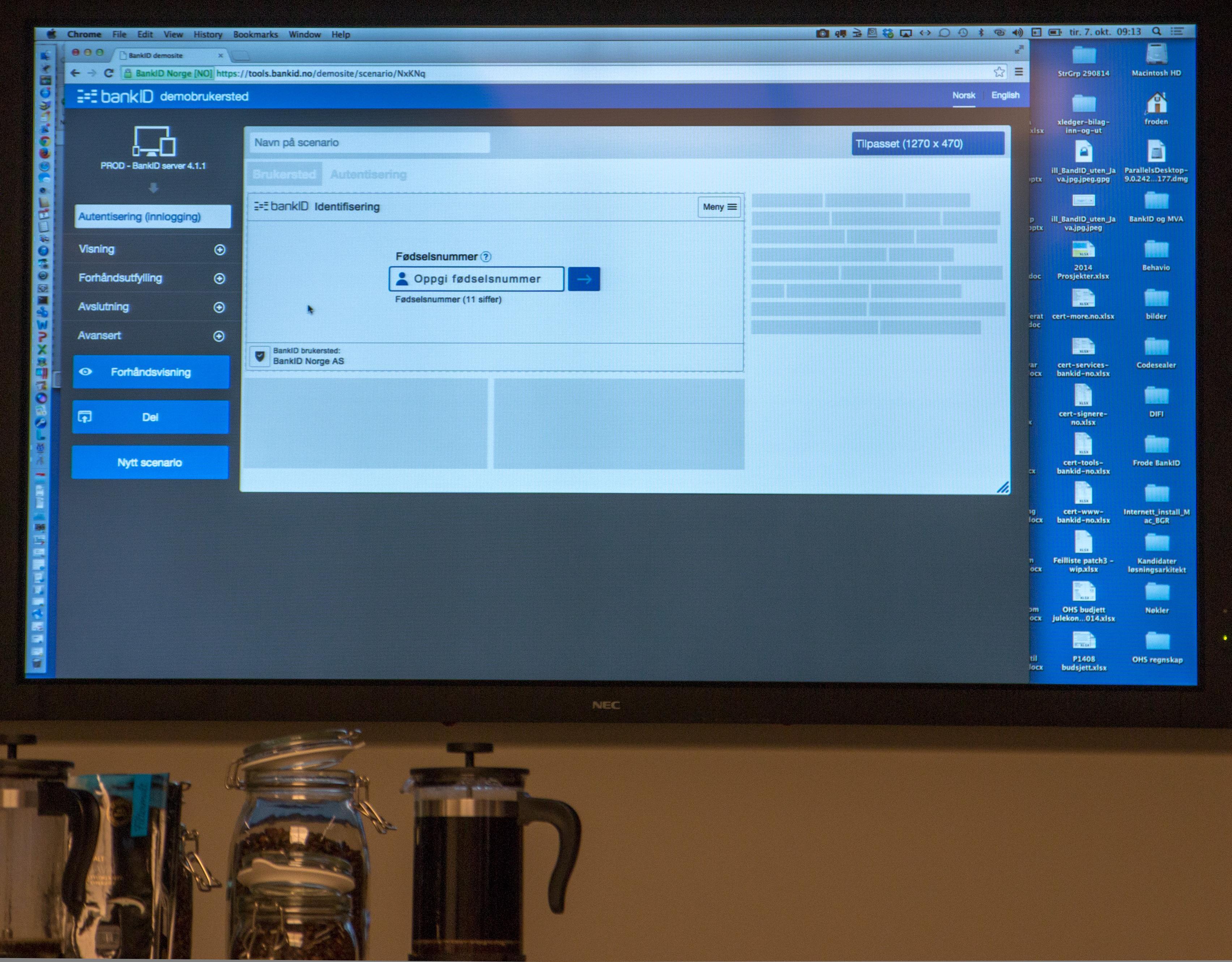 BankID Norge laget en egen pilot-utgave av BankID 2.0 for å sjekke hvordan den ble vist på ulike plattformer som nettbrett og mobiler.Foto: Anders Brattensborg Smedsrud, Tek.no