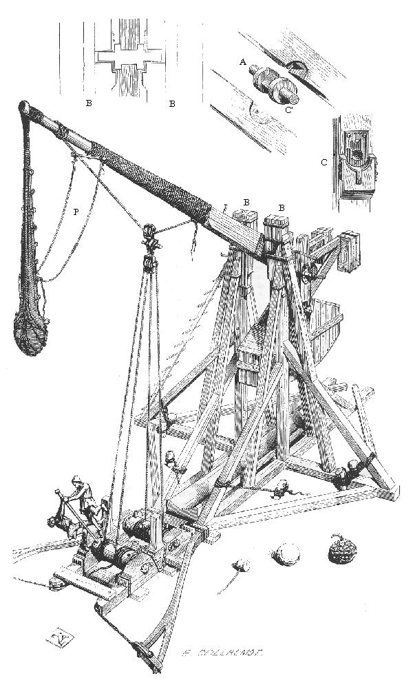 Tegning av en avansert modell. Foto: Dictionnaire raisonné de l'architecture française du XIe au XVe siècle (1854–1868)