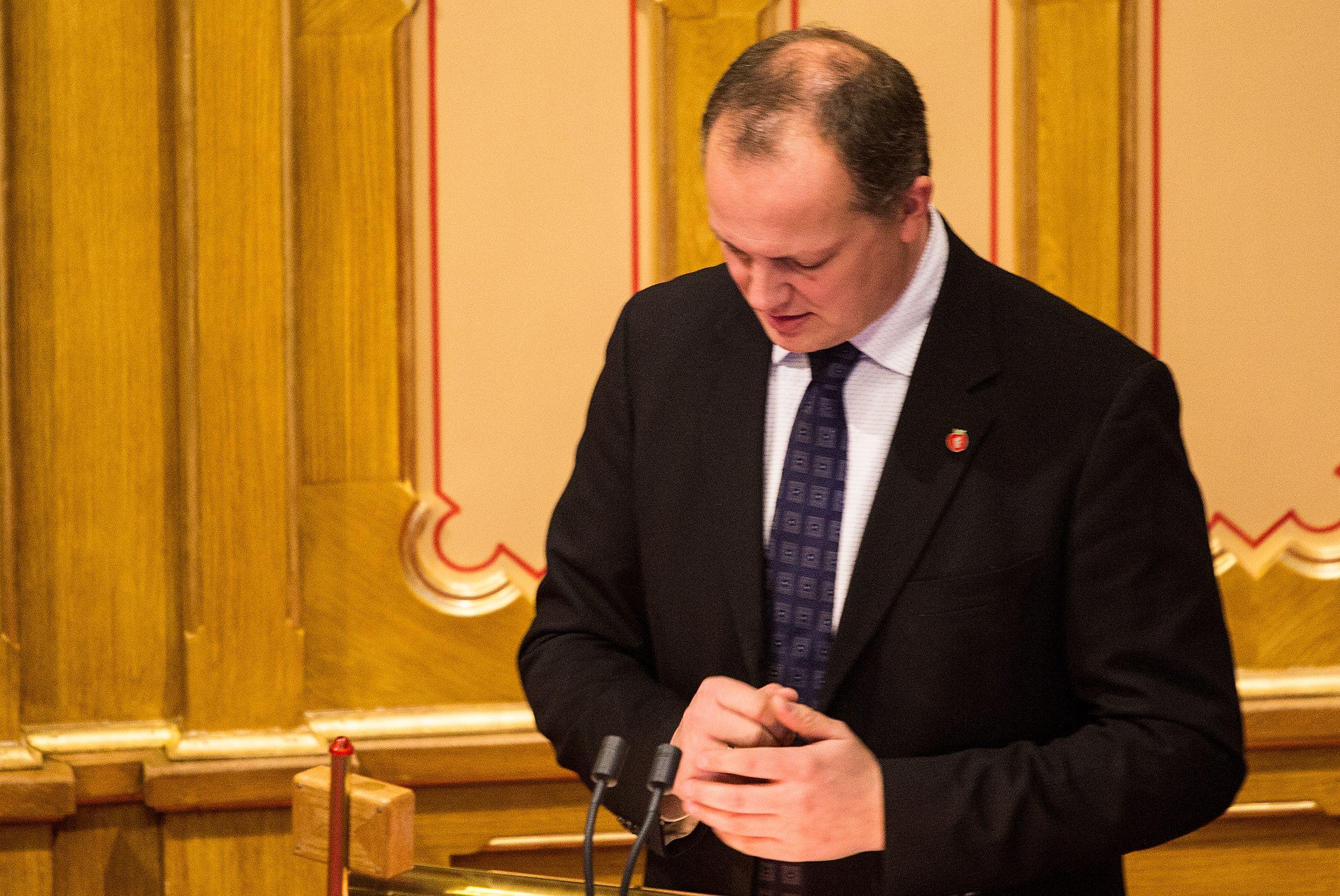 Samferdselsminister Ketil Solvik-Olsen, Fremskrittspartiet.Foto: Varg Aamo, Hardware.no
