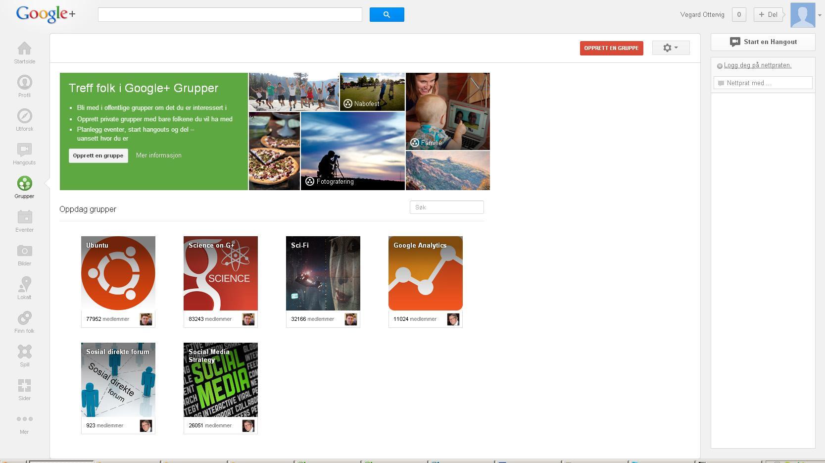 Med grupper kan du finne folk med felles interesser.Foto: Google