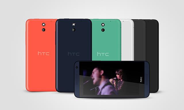 HTC Desire 610 er litt enklere enn 816-modellen.Foto: HTC