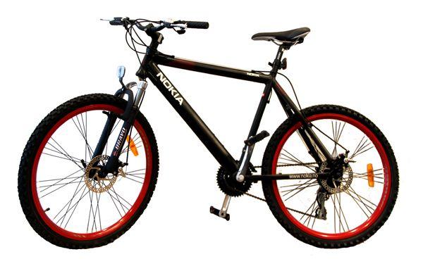 Blir du Norgesmester vinner du blant annet denne sykkelen, og kan sykle rundt og promotere Nokia. (Foto: Nokia)