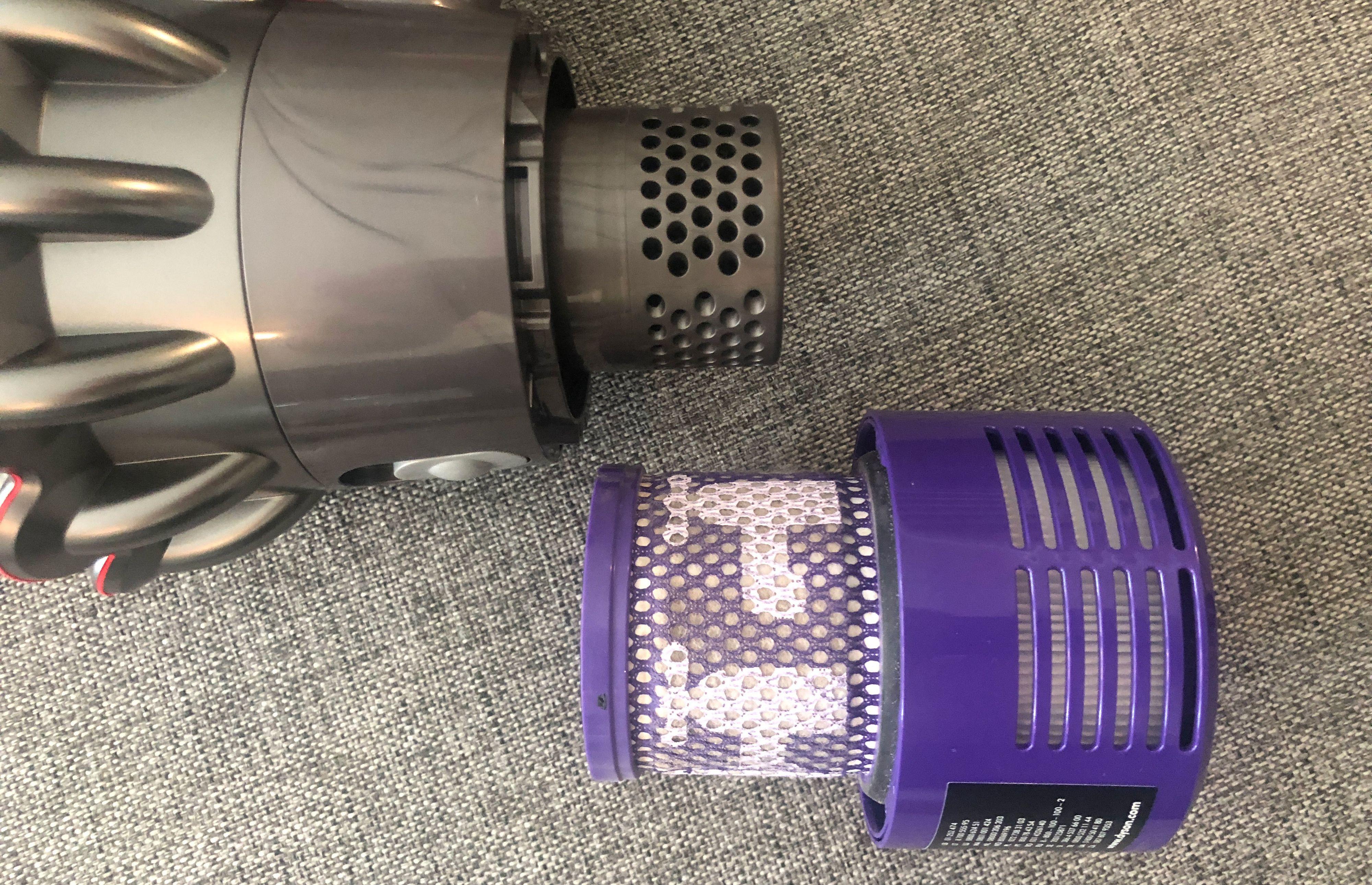 HEPA-filteret kan tas ut og vaskes.