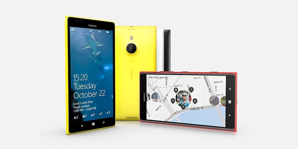 Toppmodellen Nokia-Lumia 1520 (trykk for større bilde).Foto: Nokia