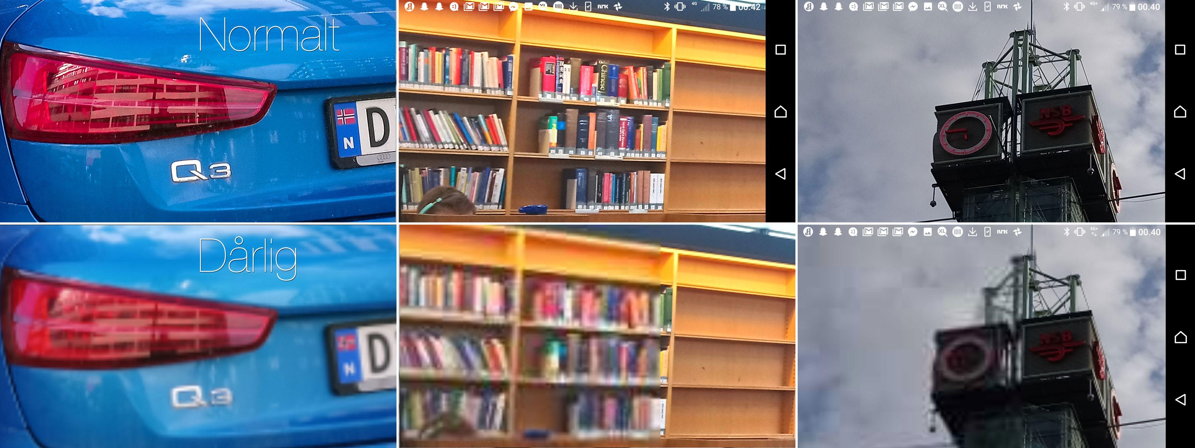 Slik ser det ut før (nede) og etter (oppe) at bildene har fått lastet seg inn. Og husk på at dette tar laaaang tid... (Bildeutsnittene er forstørret).